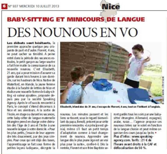 DIRECT MATIN NICE - Speaking agency