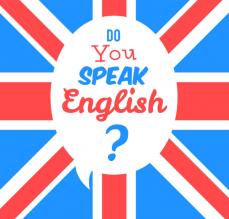 Drapeau anglais, cours d'anglais