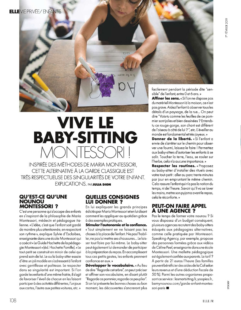 Elle article Garde-Active