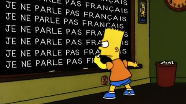 jobs non french speakers paris bart simpson writing french